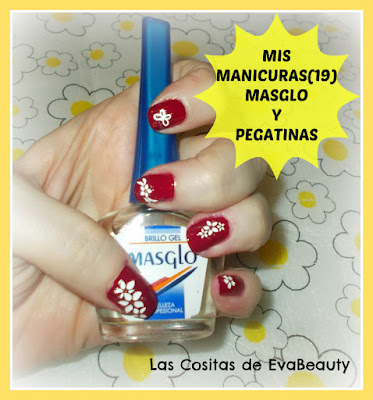 Manicura con productos Masglo y pegatinas uñas nailart nails