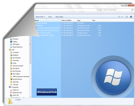 windows 7 folder background changer free download