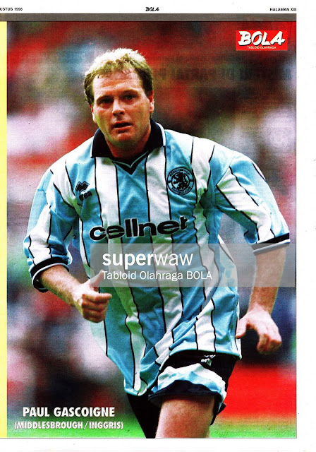 PAUL GASCOIGNE MIDDLESBROUGH 1998