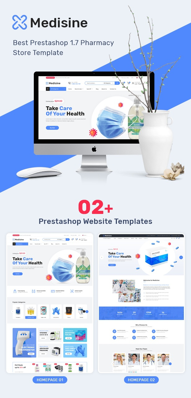 Drug and Medical Store Prestashop Theme