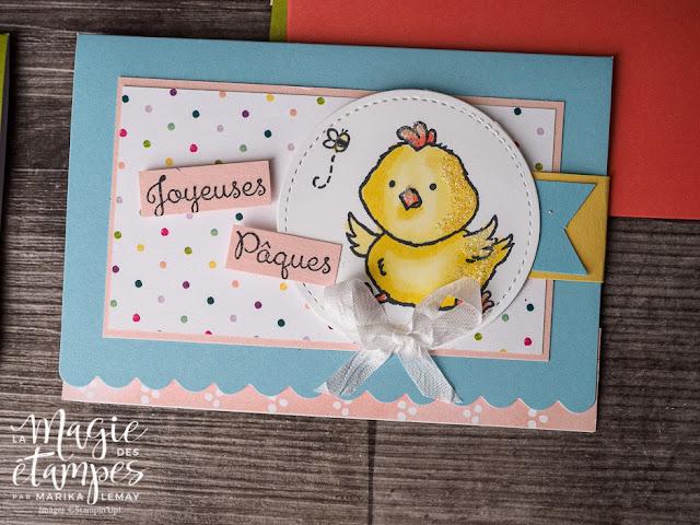 Un ensemble de cartes festonnées avec le jeu Bienvenue à Pâques Stampin' Up!