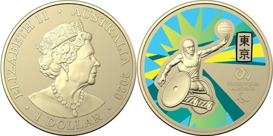 Australia 1 dollar 2020 - Australian Paralympic Team