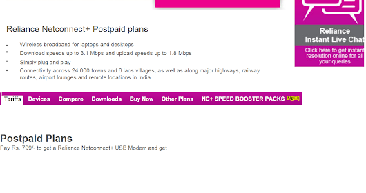 Reliance launches new Unlimited 3g Plans for Dongle