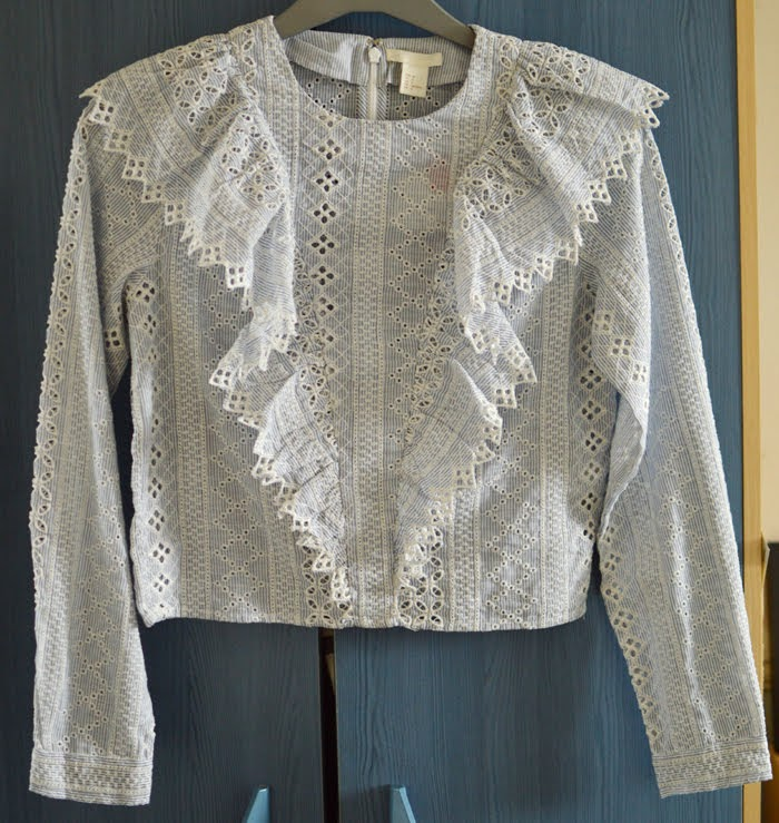 H&M Broderie Anglaise Top
