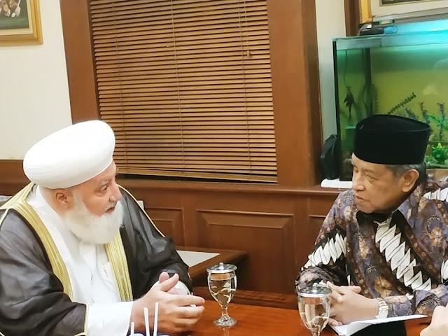 Kunjungi PBNU, Mufti Damaskus Sampaikan Kondisi Suriah Terus Membaik