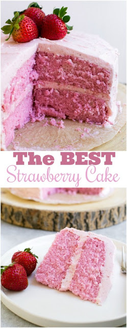 ★★★★★ | Strawberry Cake {From Scratch}