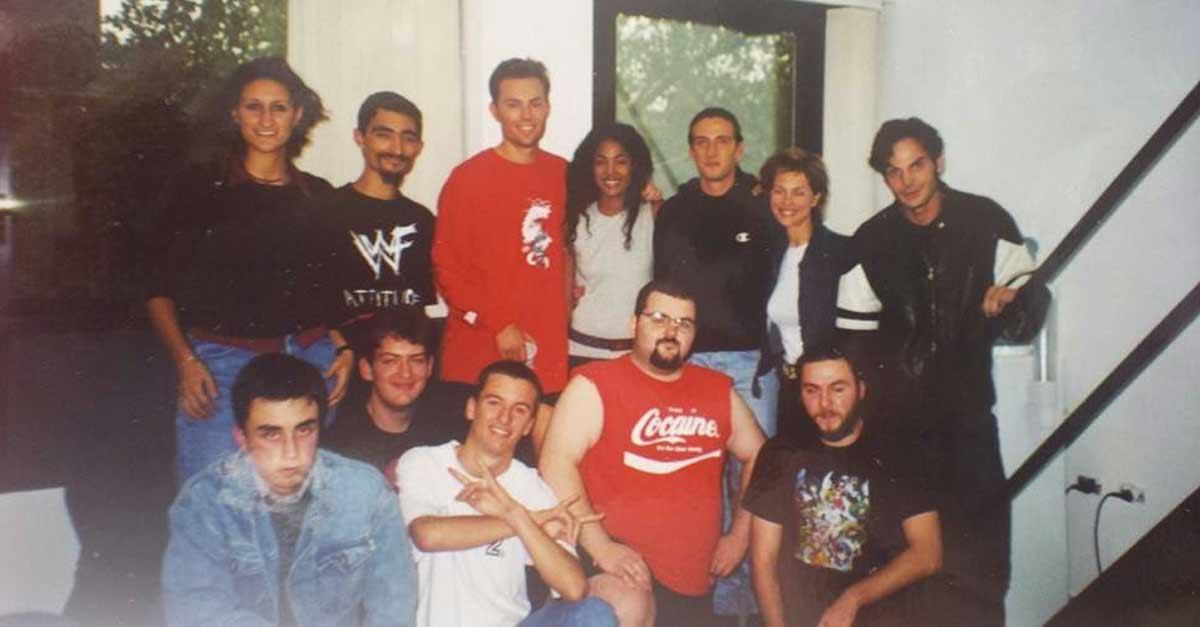 Il gruppo fondatore della ICW negli studi di Game Network (2000)