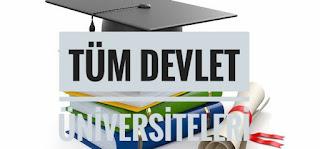 Tüm Devlet Üniversiteleri