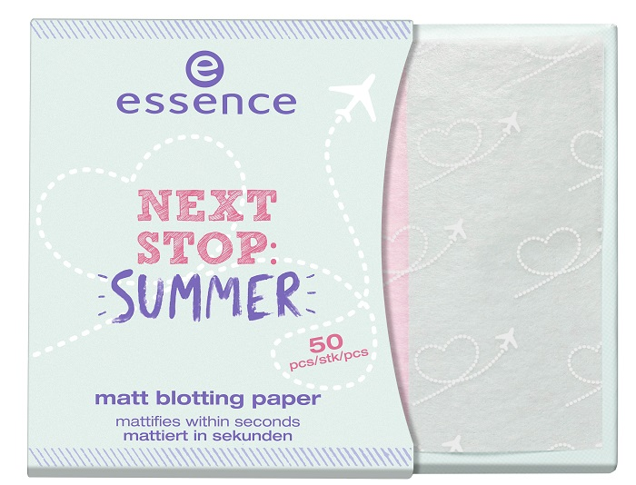 essence next stop: summer matt blotting paper