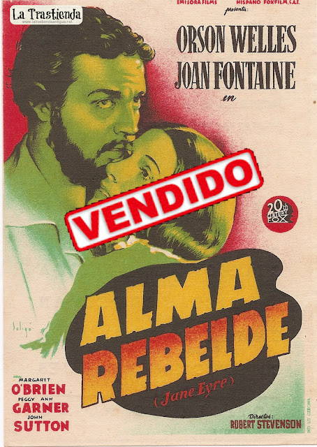 Programa de Cine - Alma Rebelde (Jane Eyre) - Orson Wells - Joan Fontaine