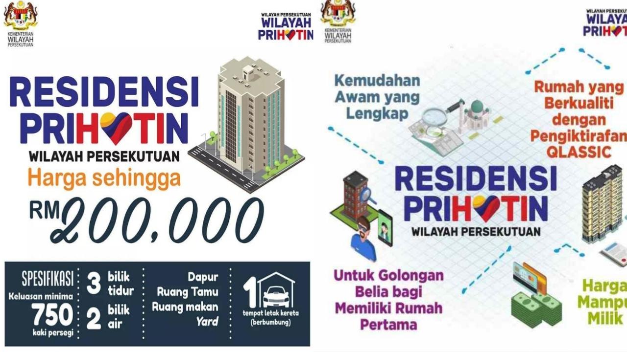 Permohonan Rumah Residensi Prihatin Wilayah Persekutuan 2021 Online (Semakan Status)