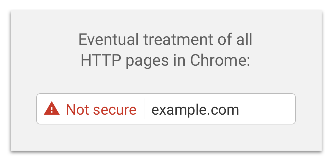 Eventual treatment of all HTTP pages in Chrome