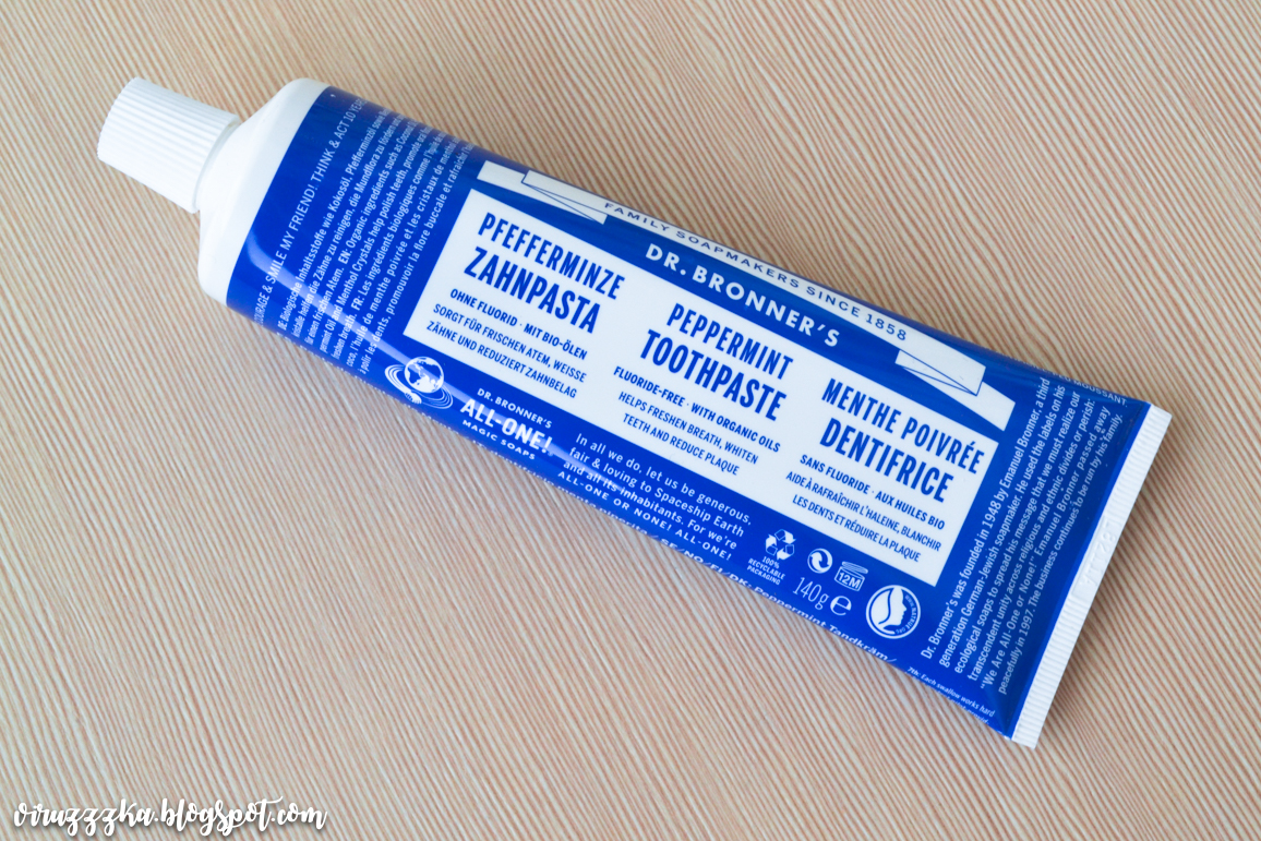 Dr. Bronner's All-One Peppermint Toothpaste Review