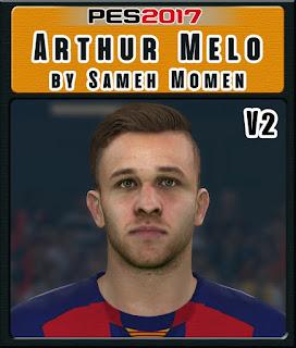 PES 2017 Faces Arthur Melo by Sameh Momen