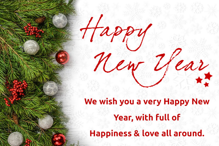 Happy New year wishes with photos