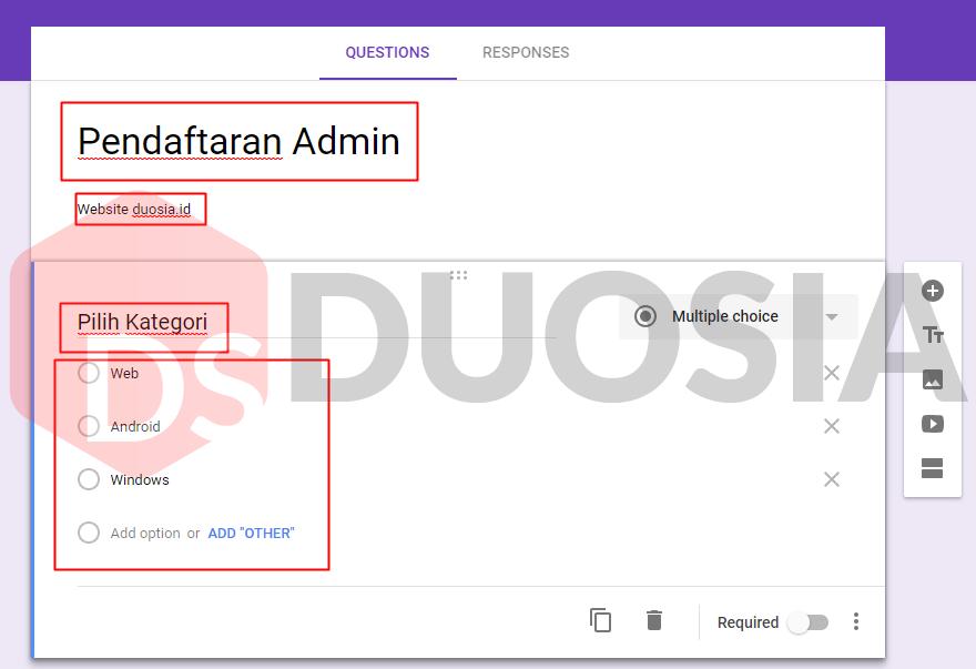 bagaimana cara membuat formulir online