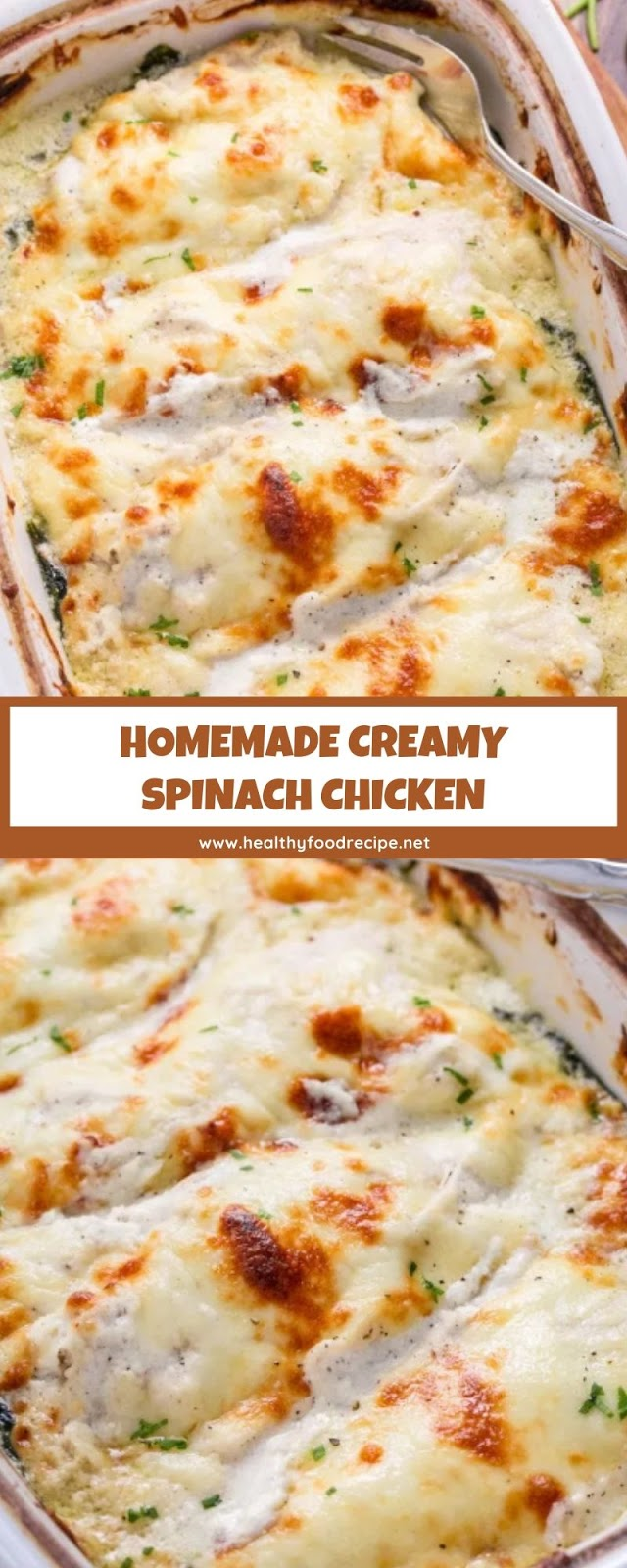 HOMEMADE CREAMY SPINACH CHICKEN