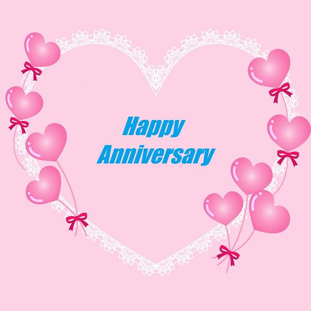 Happy Anniversary Heart Balloon Images