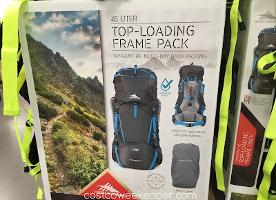 Explore the backcountry or backpack through Europe with the High Sierra Tangent 45 Top-Loading Internal Frame Pack