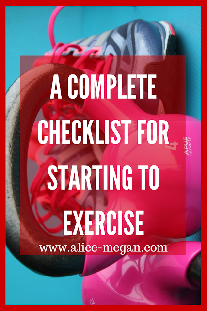 Checklist for exercise