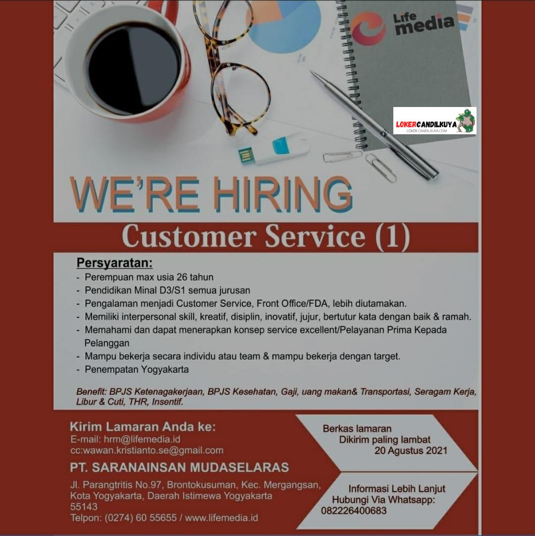 Lowongan Kerja Customer Service Yogyakarta