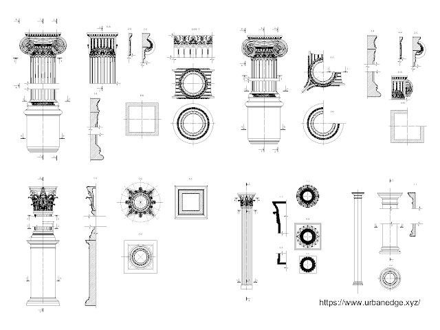 Classical columns free cad blocks download - 40+ free cad blocks
