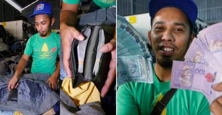 Lalaki, sinwerte nakakita ng wallet na naglalaman ng $4,000 o mahigit P200k galing sa damit ukay-ukay