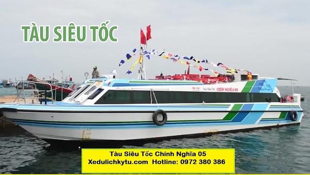 """Tàu siêu tốc """"Chín Nghĩa 05"""" nửa triệu đô đã hoạt động phục vụ du khách đi Lý Sơn"""