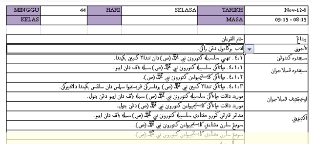 Rph Pendidikan Islam 1 5 Lengkap Setahun Great Teacher