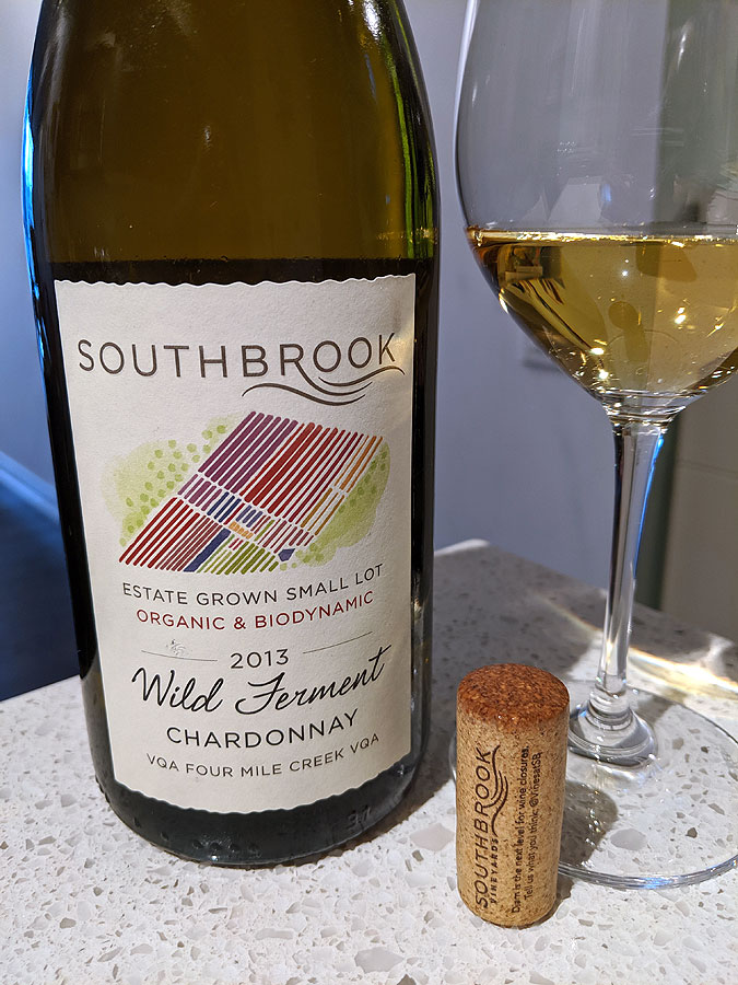 Southbrook Estate Grown Small Lot Wild Ferment Chardonnay 2013 (91 pts)