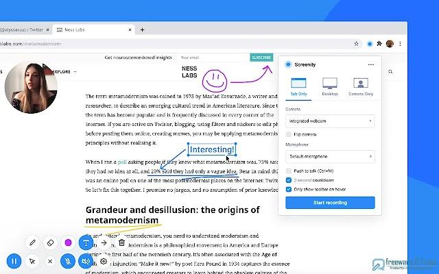 Screenity : une extension Chrome pour enregistrer et annoter facilement son écran
