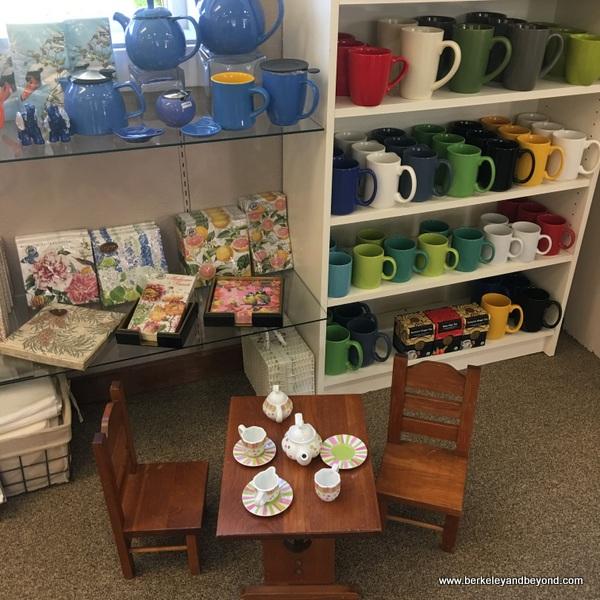 interior of Duncans Mills Tea Shop in Duncans Mills, California