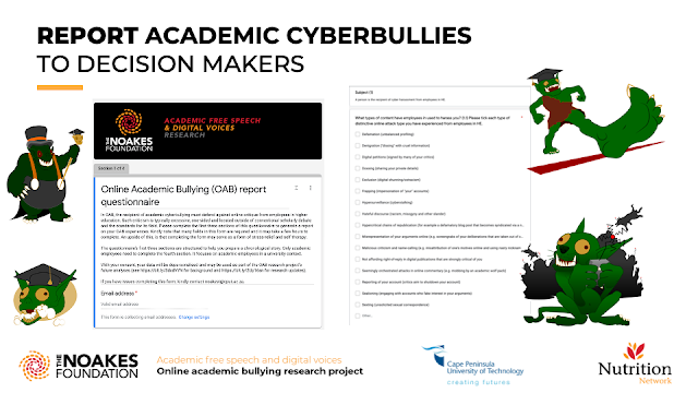 REPORT ACADEMIC CYBERBULLIES TO DECISION MAKERS