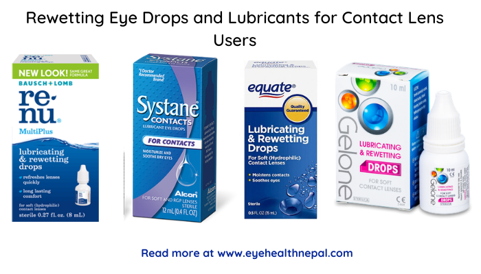 Rewetting Eye Drops and Lubricants for contact lens wearers
