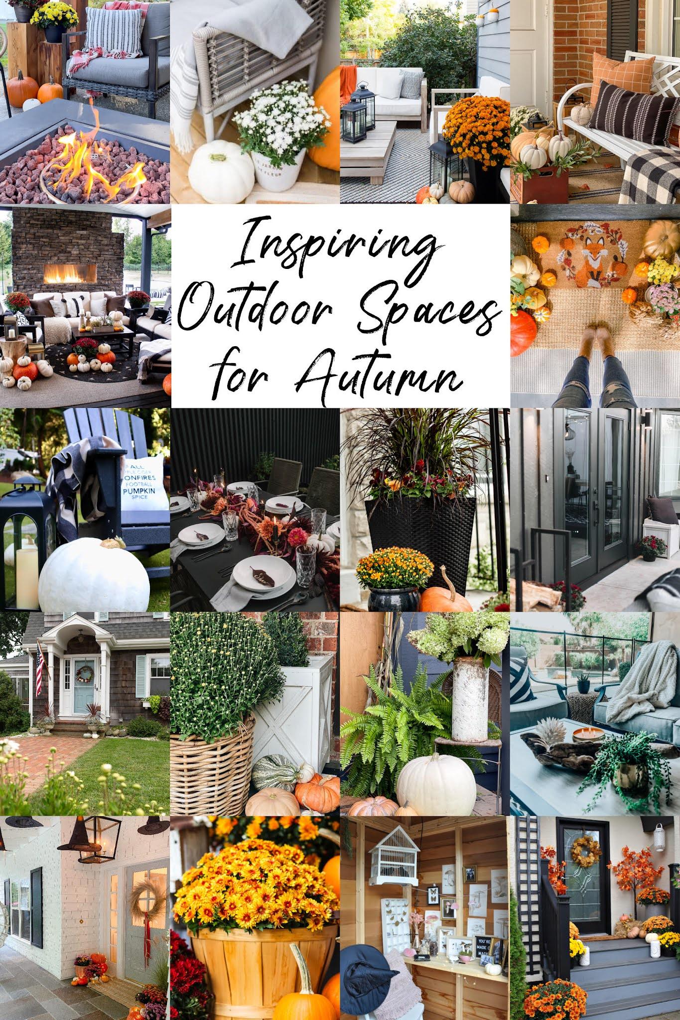 fall front porch decorating ideas, fall outdoor decor, fall porch decor