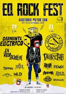 EQ ROCK FEST 2 Soziedad Alkoholica, La Vida Boheme y más en Bogotá
