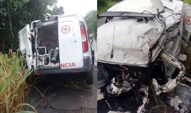Acidente com ambulância deixa 3 mortos na BR-101