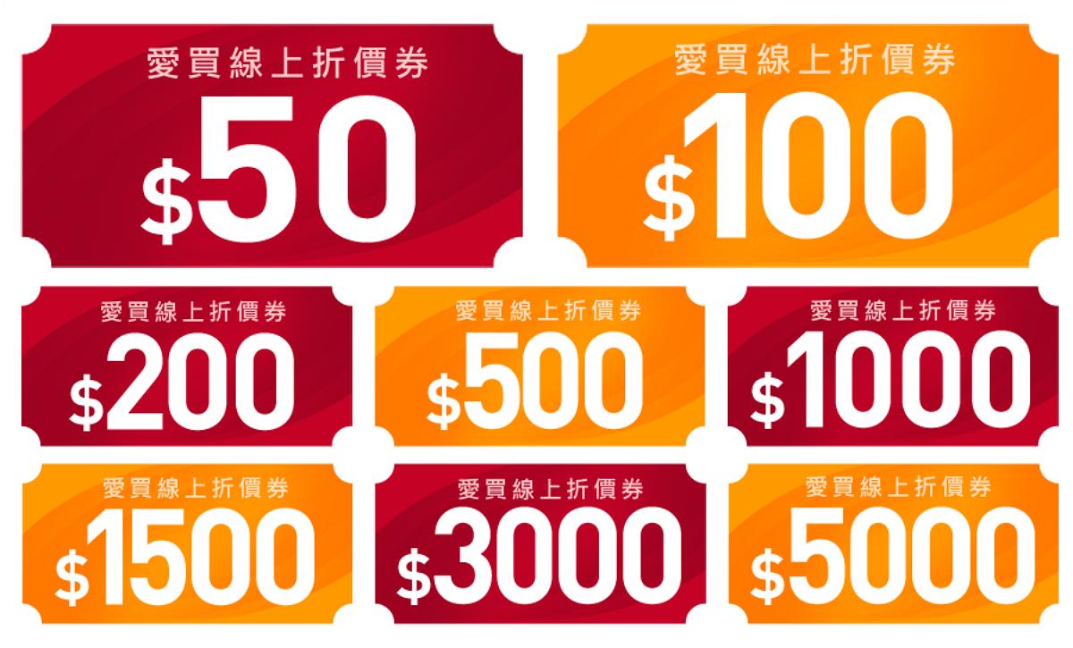 【愛買】抗漲有理,3月份折價券