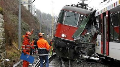 تصادم قطارين - أرشيفية