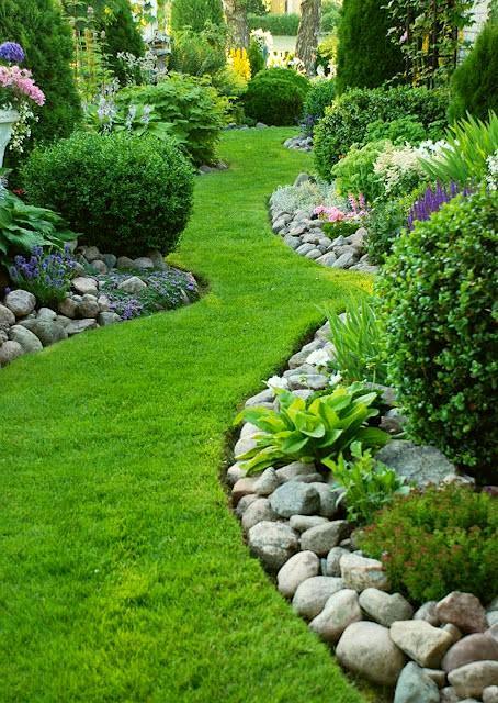 rock garden edging ideas