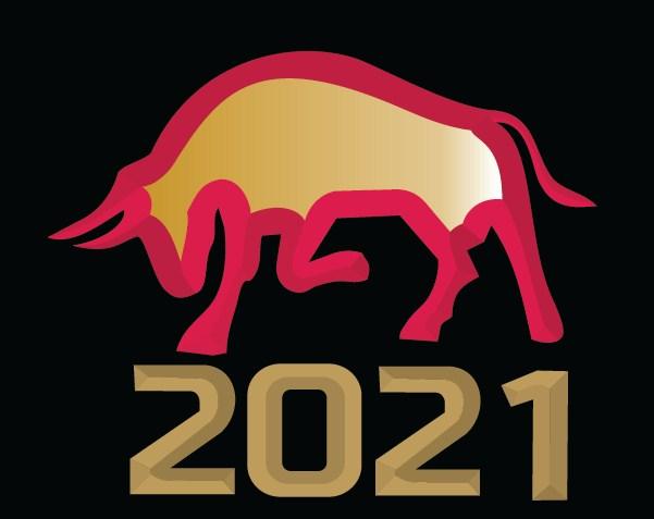 graphic design logo cow gold
