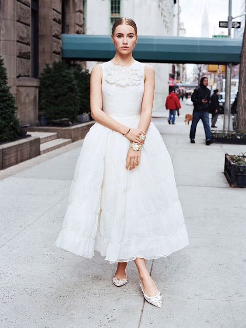Short Wedding Dress And Flats : Suki Waterhouse