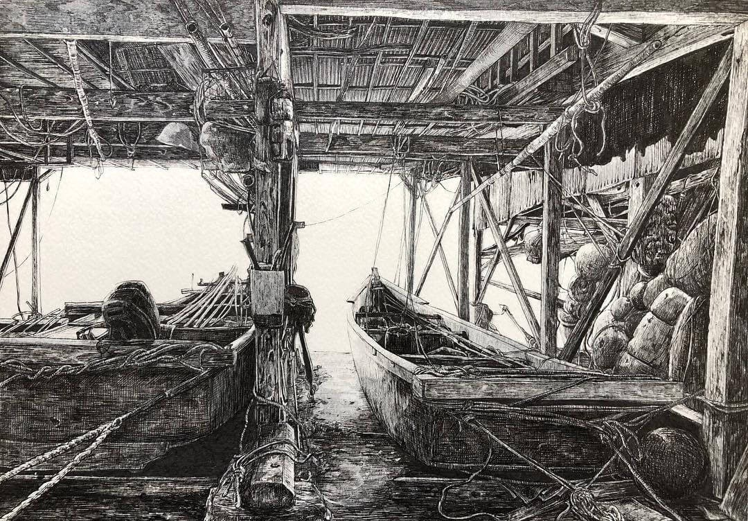 04-Fishing-Boats-ibsuki-Urban-Architectural-Pen-Drawings-www-designstack-co