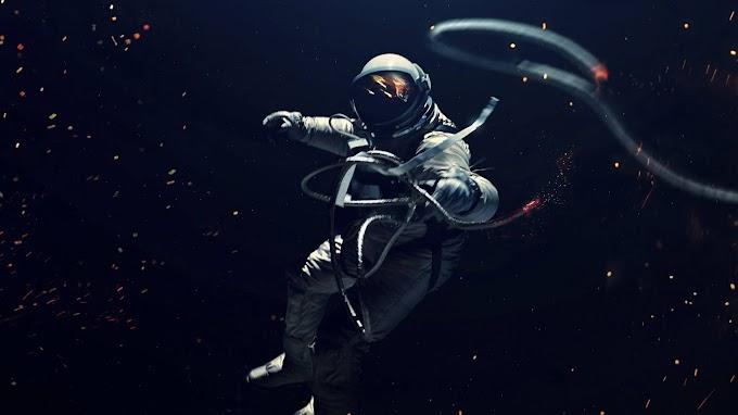 Cosmonauta Astronauta no Espaço