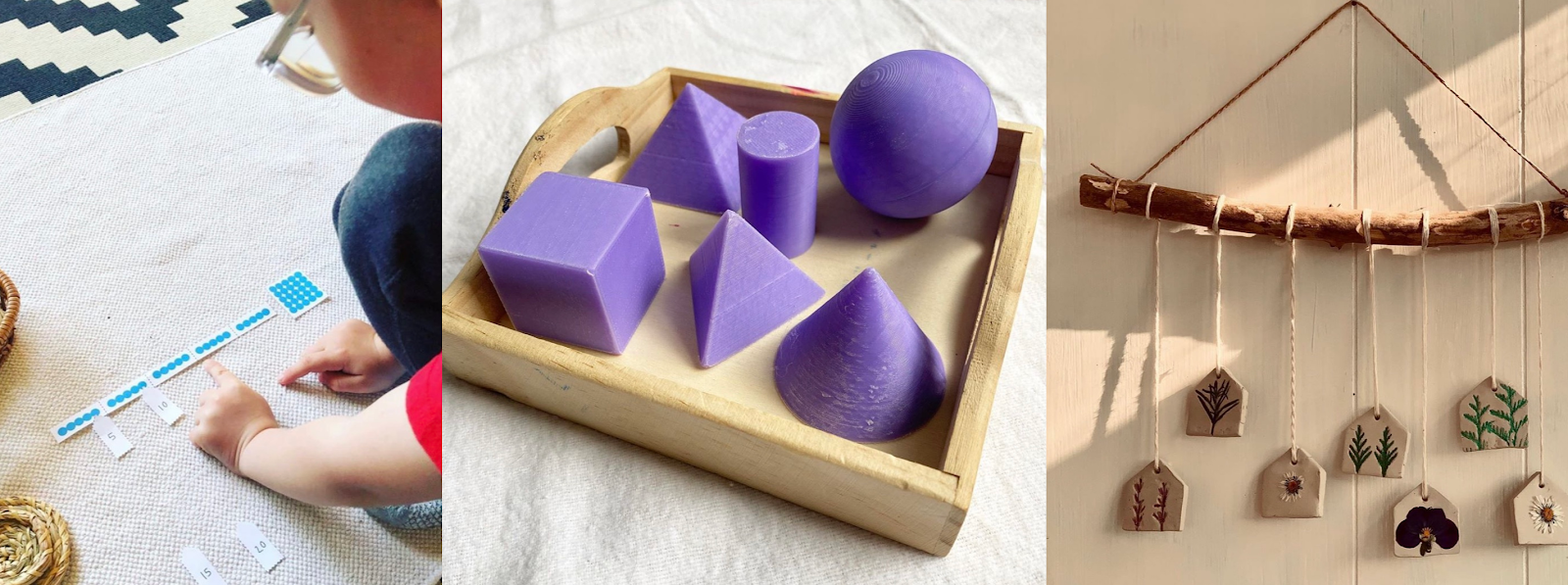 In this post you'll find inspirational DIY Montessori learning activities.