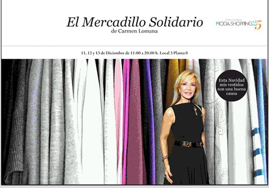 Mercadillo solidario de Carmen Lomana 2014