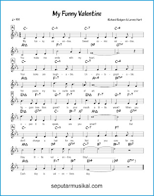 My Funny Valentine chords jazz standar