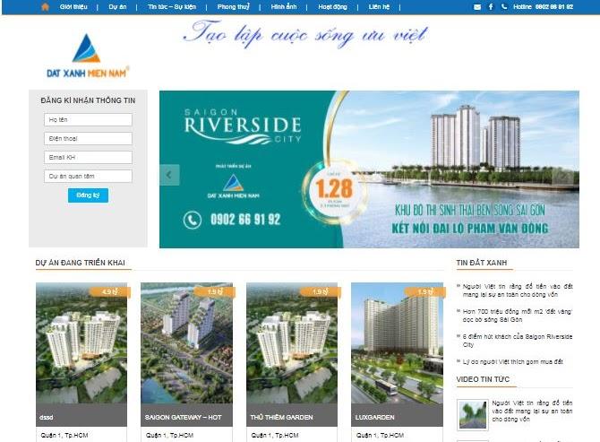 Template Blogspot dự án bất động sản
