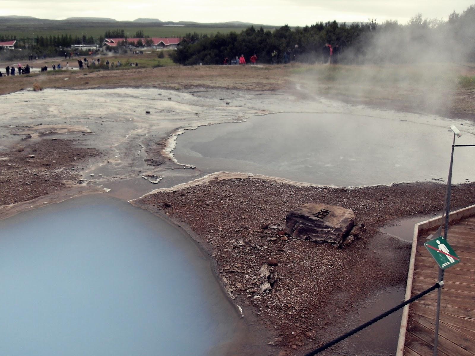 gejzer, Islandia, Blesi, Litli, hot spring, głupi turyści
