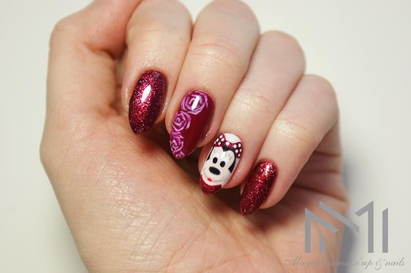 Biankowo Manicure Hybrydowy Semilac Myszka Minnie Tutorial